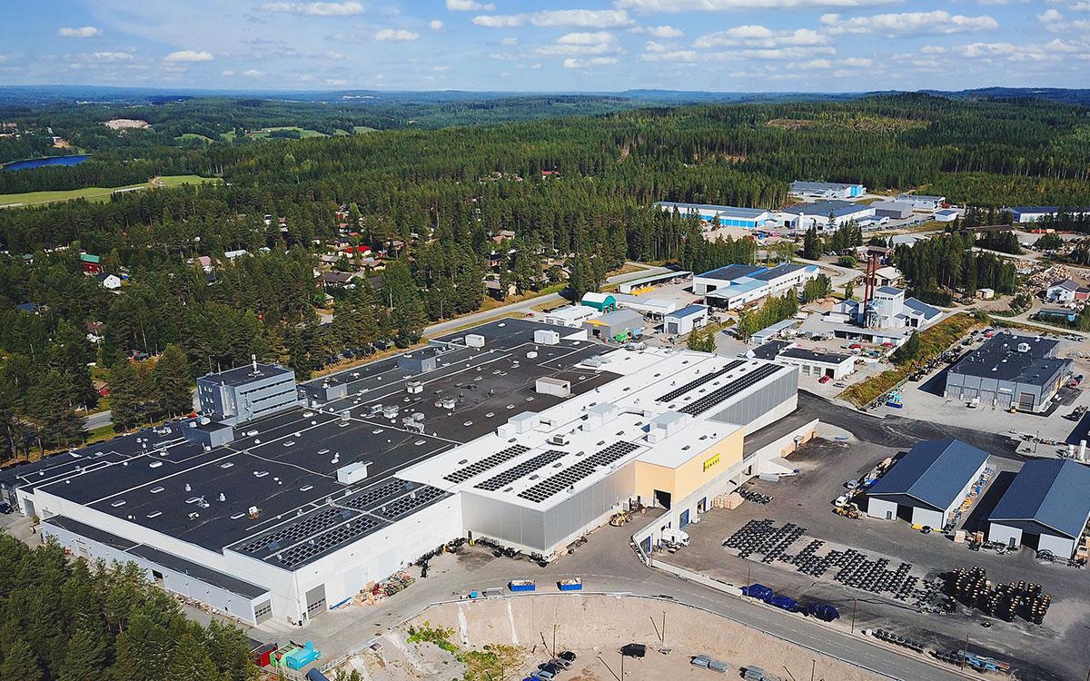 庞赛伐木机全球现代化程度最高的林业机械工厂